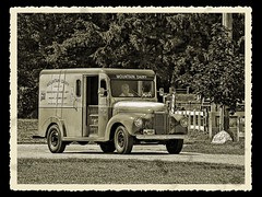 Milk Delivery 1946 (Sunset Sailor) Tags: sepia truck milk explore international delivery milkman fauxvintage blueribbonwinner sepioso mountaindairy anawesomeshot diamondclassphotographer flickrdiamond betterthangood