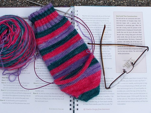 FIrst Vesper short row heel