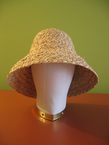 straw braid body down turned brim
