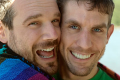 Us, Drying (CarbonNYC) Tags: gay portrait david me smile smiling michael us couple affection duo smiles romance relationship romantic affectionate gaycouple romanticcouple carbonnyc