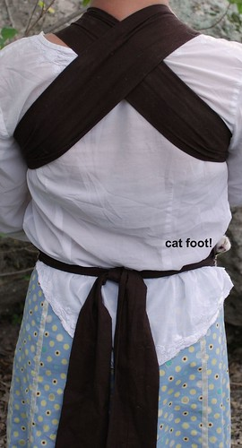 Mei Tai back view cat foot 1