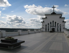 Terrace of Resurrection Church (Gytis) Tags: sky church clouds lithuania 2007 kaunas baznycia resurrectionchurch prisikelimobaznycia