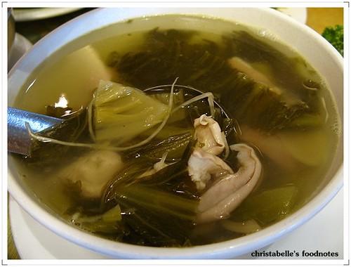 美濃粄條酸菜肚片湯