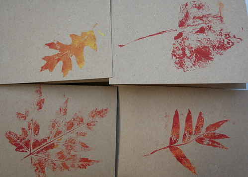 Leaf Print Notecards