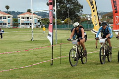 Lorna & Ruth finishing 100km-1