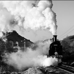 Swanage Railway 11 - M7 30053, Corfe Castle (David Crosbie) Tags: winter dorset m7 corfecastle steamrailways swanagerailway uksteam heritagerailways 30053