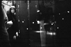 Mannequin (Leonrw) Tags: street light bw white black film mannequin night analog 35mm dark 50mm scary focus minolta bokeh f14 melbourne delta icon stare manual grainy 3200 ilford forges x300 noisy ilforddelta3200 footscray autaut forgesisclosingdown doneoftheoldestdepartmentstoresinmelbournesold makesmeunhappy