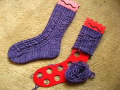 Purple Frog Pond socks