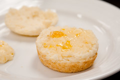 Fluffy Biscuits with Peach Butter