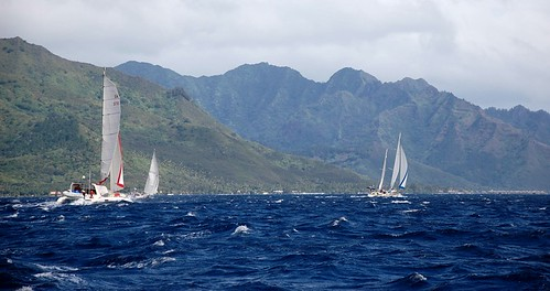 Breezy rally sail to Moorea