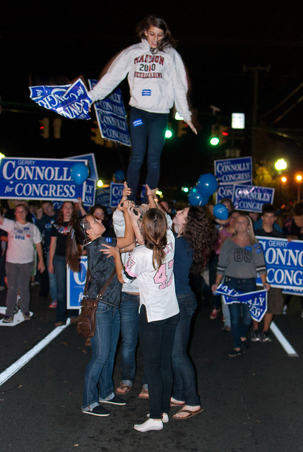 Gerry Connolly at the 2010 Vienna Halloween Parade