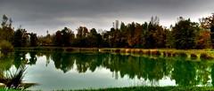Petit tang HDR  Rumilly 74 (doctor_zeng) Tags: automne lac tamron etang hautesavoie k7 rhonealpes pecheurs rumilly