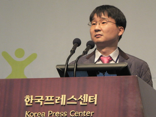 Professor Han Woo Park speaks at the NIA Digital Culture Conference, Seoul, Korea