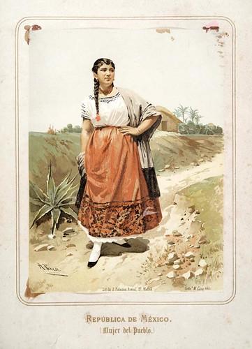 016-Republica de Mexico-Mujer del pueblo-Las Mujeres Españolas Portuguesas y Americanas 1876-Miguel Guijarro