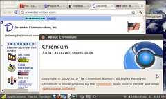 Google Chrome browser installed on the EEEPC!