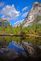 Mirror Lake - Yosemite (nebulous 1) Tags: lake reflection water nationalpark nikon mirrorlake explore yosemite 164 yosemitenationalpark yosemitevalley november11 nebulous1
