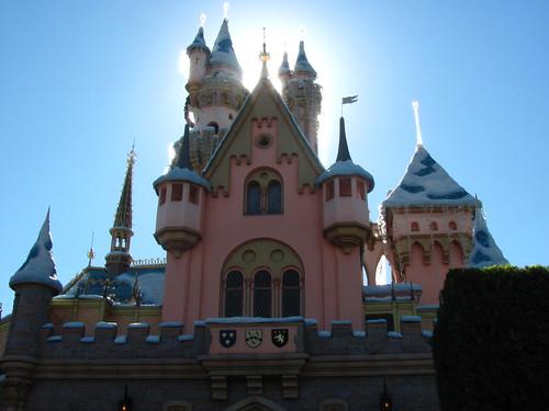 Pretty lighting hits Sleeping Beauty's Winter Castle