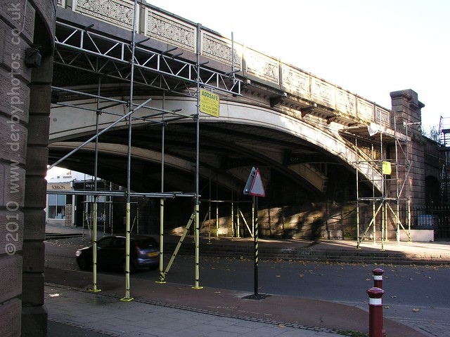 Friar Gate Bridge prior to safety netting