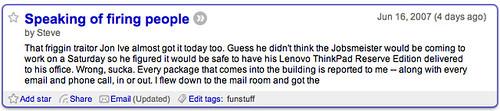 Fake Steve Jobs' Truncated Blog Posts