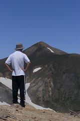 上ホロピークから十勝岳を望む