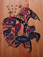 Wasgo the sea bear (Northwest haidaan) Tags: art painting native campbell killerwhale haida lyle seabear