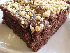 Chocolate-Peanut Butter Birthday Fusion Brownie