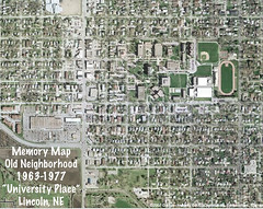Memory Map of my Old Neighborhoods, Vol 1: University Place [Lincoln, NE, USA] (cannellfan) Tags: me nebraska googlemaps maps memories memorymap lincoln 1000views memorymaps scottclark