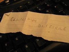 Clostridium Difficile note (Carol B London) Tags: death deadly diarrhea clostridium cdiff