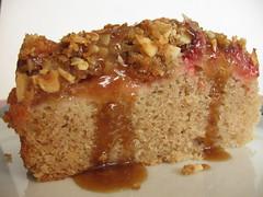 Spiced Plum Streusel Cake with Toffee Glaze (2)