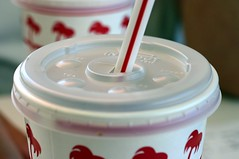 in-n-out burger, soda