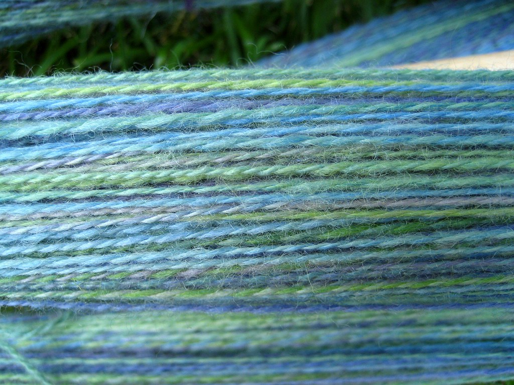Antigua BFL 2-ply before setting the twist