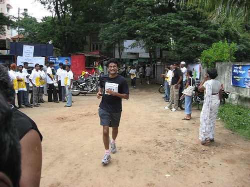 Lakshman - Hari's brother at the finish line