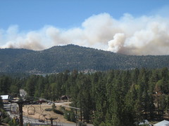 View of Fires From Big Bear Alpine Slide