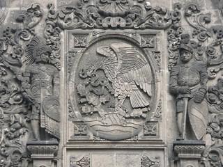 Mexico - Indigena, Escudo Nacional y Español