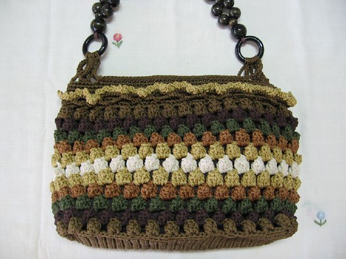 Handmade Brown Crocheted Purse by Smartbiz.