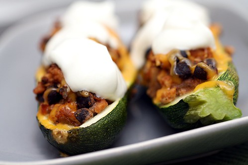 sour cream zucchini boats