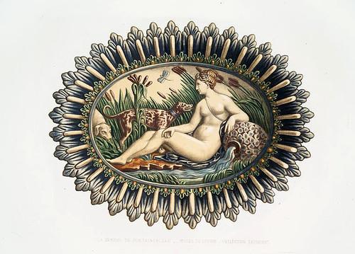 013-La ninfa de Fontainebleau-Museo del Louvre-Monographie de l'oeuvre de Bernard Palissy…1862
