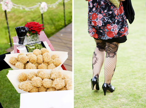 Eastern style canapes and colourful outfits