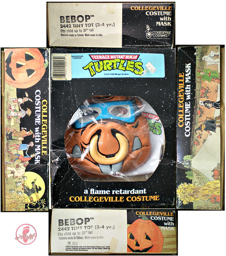 "Collegeville Costumes :: TEENAGE MUTANT NINJA TURTLES { OPPOSITION FORCES! } : ""BEBOP"" TINY TOT Costume with Mask iii (( 1990 ))"