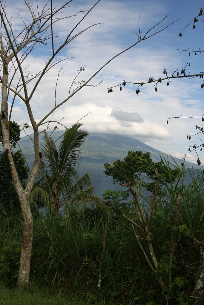 Gunung Agung in the distance on Bali