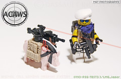 ACAWS PIG test phase 1 (Shobrick) Tags: animal soldier amazing lego cell system tiny weapon laser warrior tt custom armory aiming tactical brickarms brickforge systempig acaws