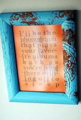 lace stenciled frame