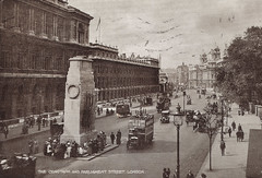 London - Cenotaph Prior to 1924. And Some Interesting Facts. (pepandtim) Tags: postcard old early nostalgia nostalgic london cenotaph soham 1924 submarine h51 1919 scrap wreiths 63lc79 06061924 king george v 1920 unknown warrior westminster abbey edwin lutyens empty tomb pedestal glorious dead inscription england uk great britain
