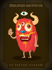 Sacred Ox (Rey Misterio (Juan Molinet)) Tags: color colors monster illustration dragon character ox sacred vector pictoplasma lowbrow personaje wachi wachifichuz wahifichuz