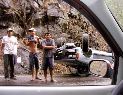 Roadside wreck