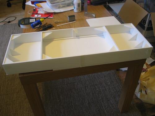 Cwmafon Uchaf - Foamboard baseboard, underside.