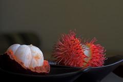 A Mangosteen & a Rambutan (pradeep jeganathan) Tags: fruit interestingness lanka srilanka ceylon colombo rambutan mangosteen interestingness45 10faves i500 500i explore21072007