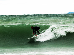 Surfing, Leelanau Style (farlane) Tags: leland surf michigan surfing lakemichigan greatlakes leelanau m22