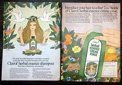 Clairol Herbal Essence Creme Rinse (twitchery) Tags: flowers vintage hair bath hippy shampoo 70s herbal conditioner vintageads clairol vintagebeauty creamrinse cremerinse