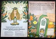 Clairol Herbal Essence Creme Rinse (twitchery) Tags: flowers vintage hair bath hippy shampoo 70s herbal conditioner vintageads clairol vintagebeauty creamrinse cremerinse